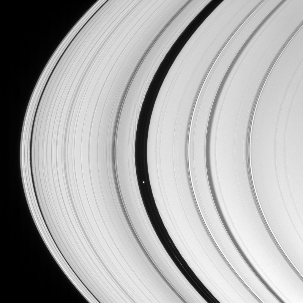 Daphnis and Pan in Saturn's rings