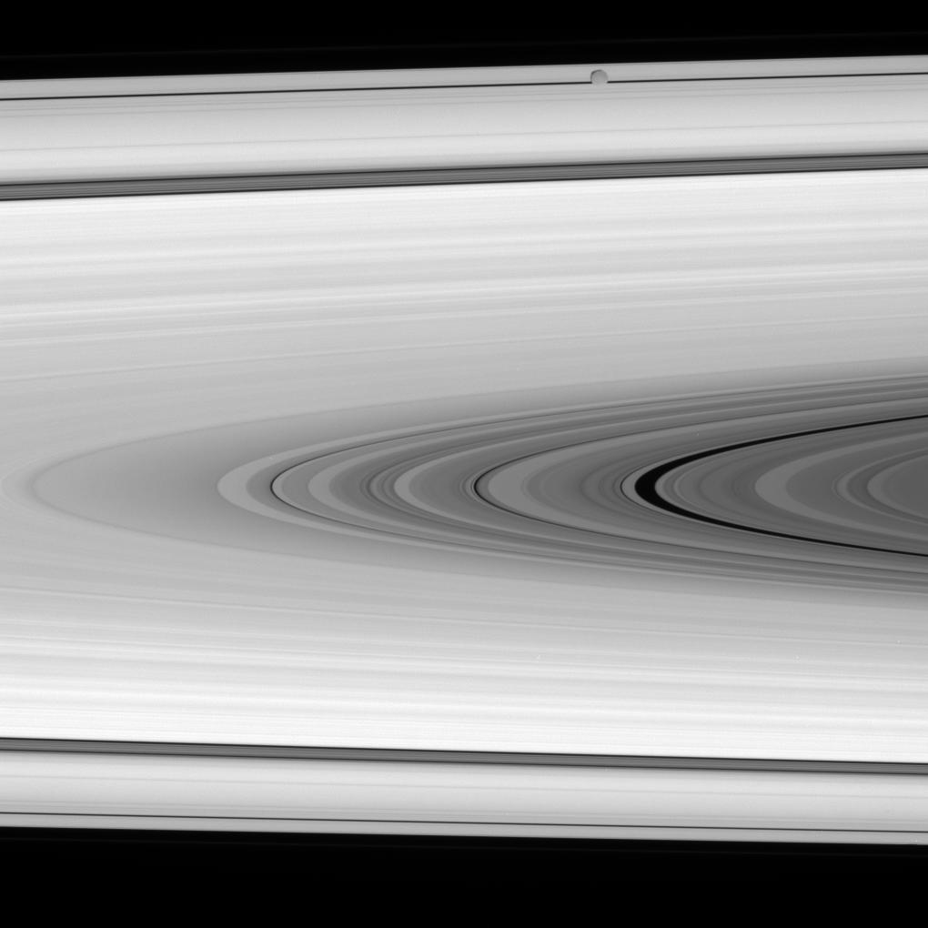 Saturn's rings and Epimetheus