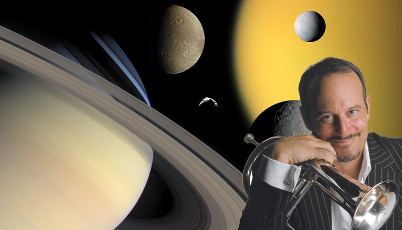 Jeff Oster and a collage of Saturnian images