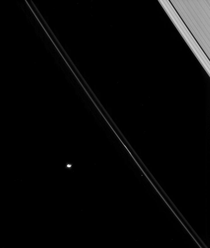 Saturn's rings and the moon Pandora