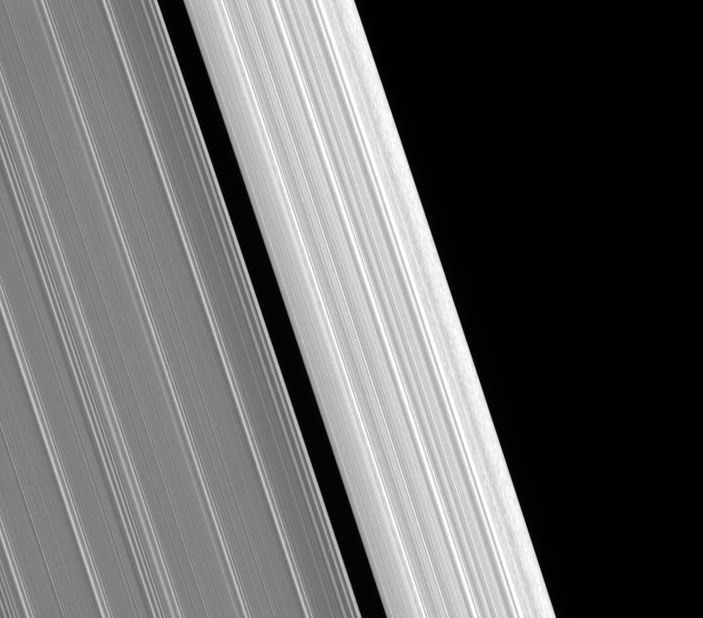 The outer edge of Saturn's A ring