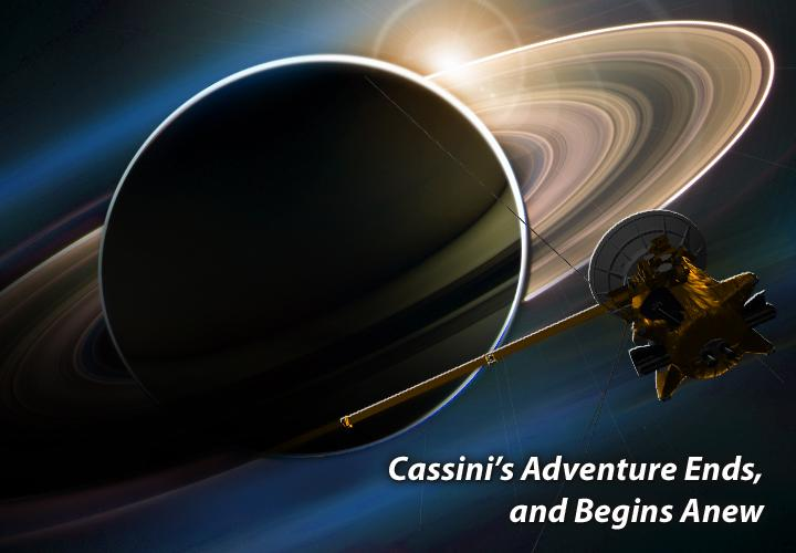 Artist's rendition of Cassini at Saturn