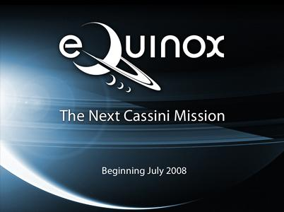 A logo for the Cassini Equinox mission
