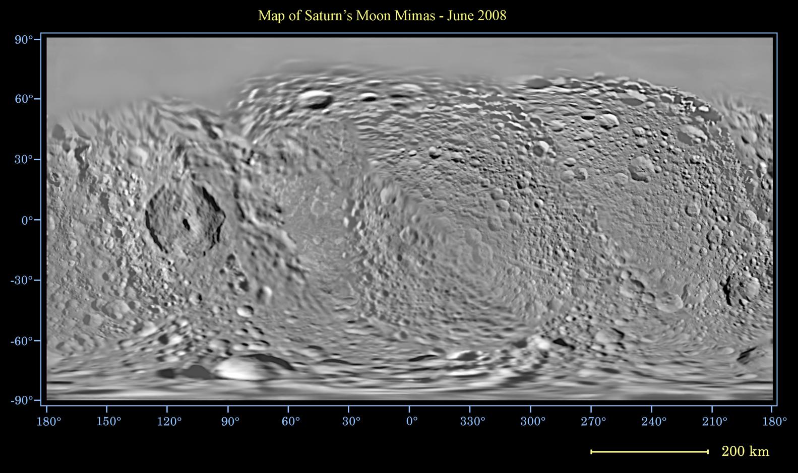 Global map of Saturn's moon Mimas