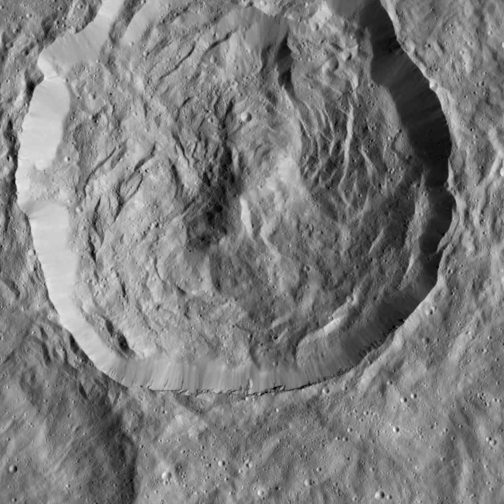 Crater with Scarps in LAMO