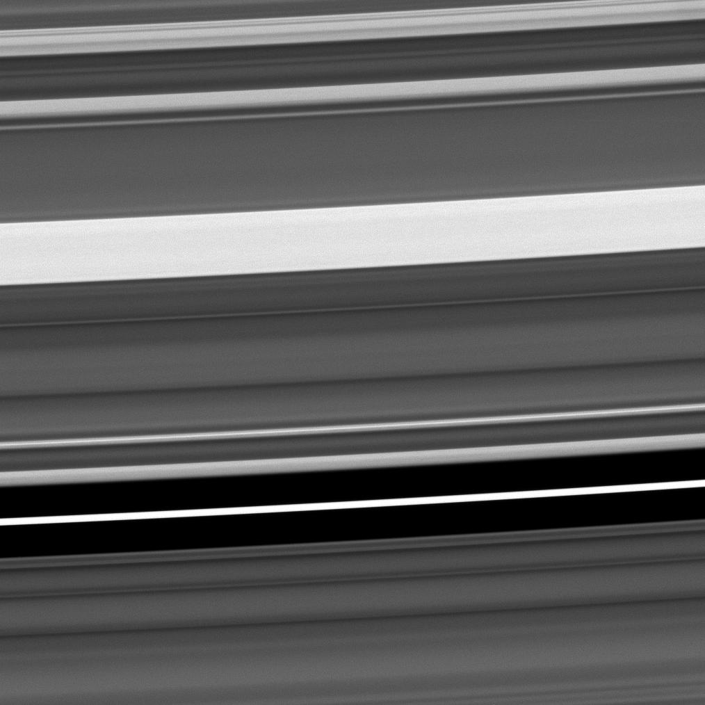 The range of features to be found in Saturn's C ring is seen in this Cassini image.
