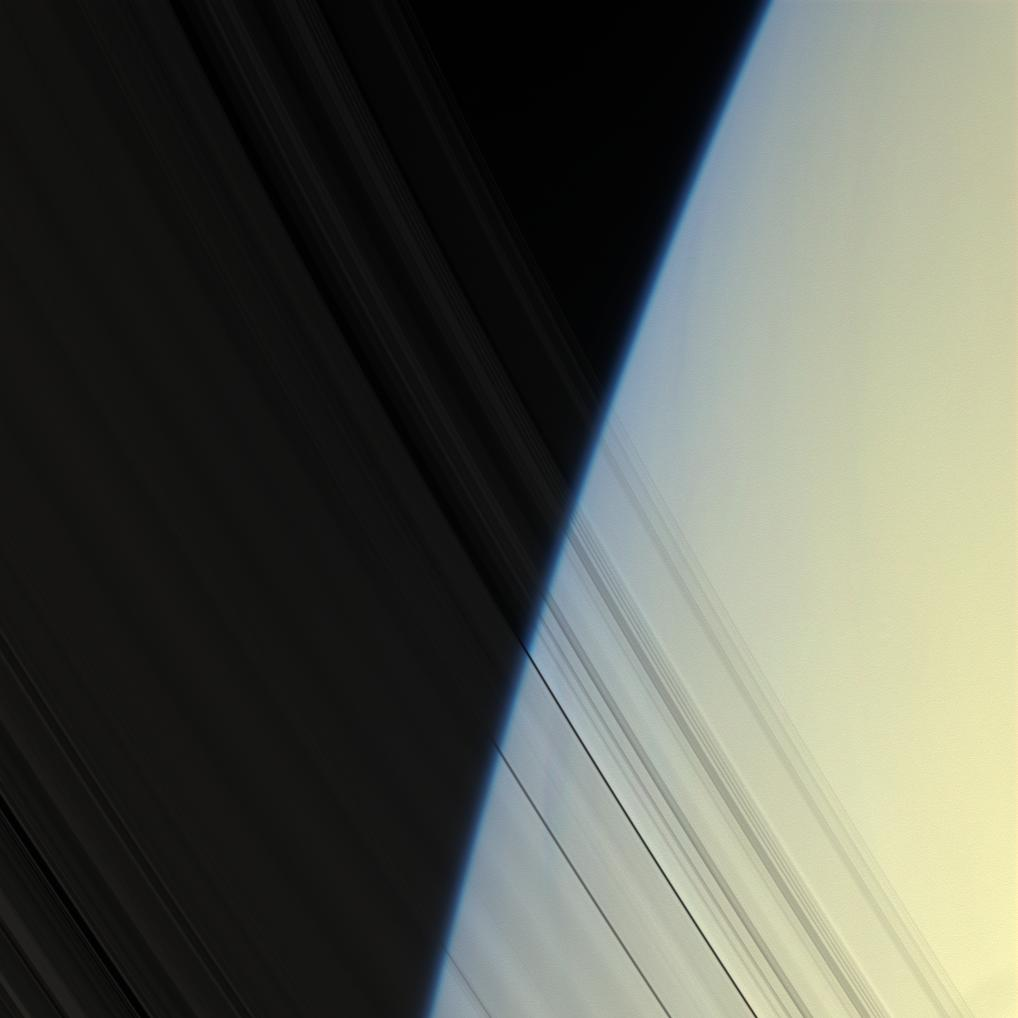 Saturn's atmosphere seen through the inner C ring