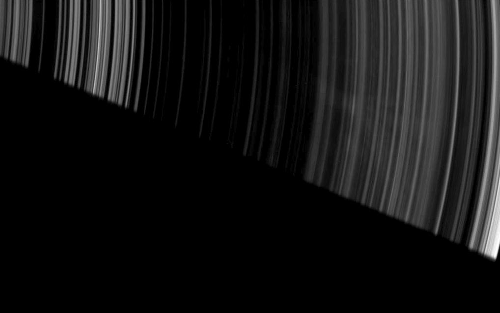 Spokes dapple the dark side of Saturn's A ring