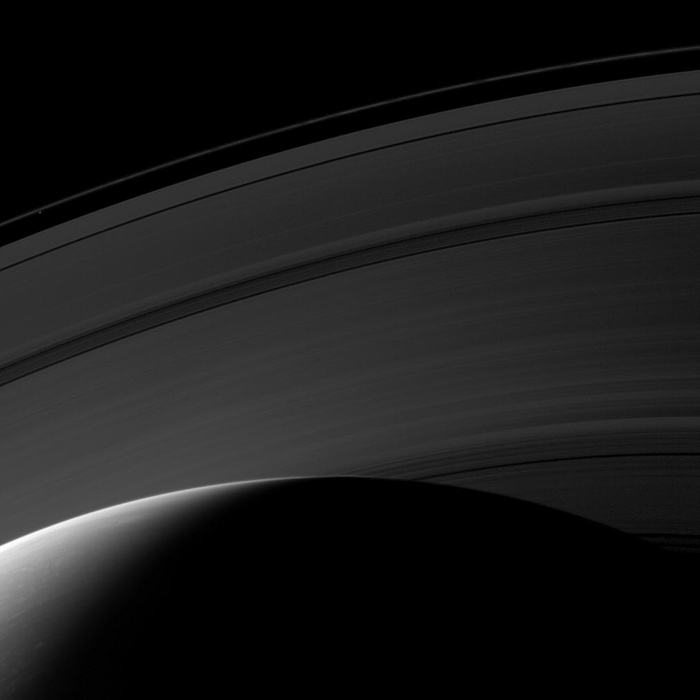 Saturn's northern hemisphere and the rings