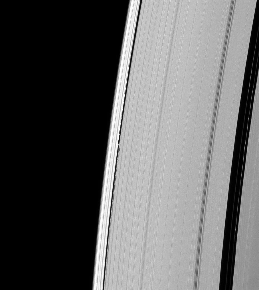 Saturn's moon Daphnis and the A ring