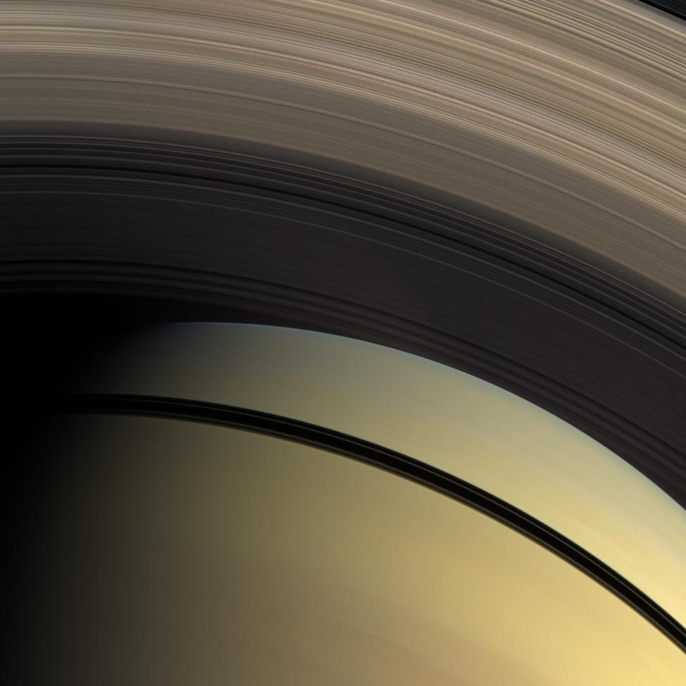A natural color view of Saturn and its magnificent rings