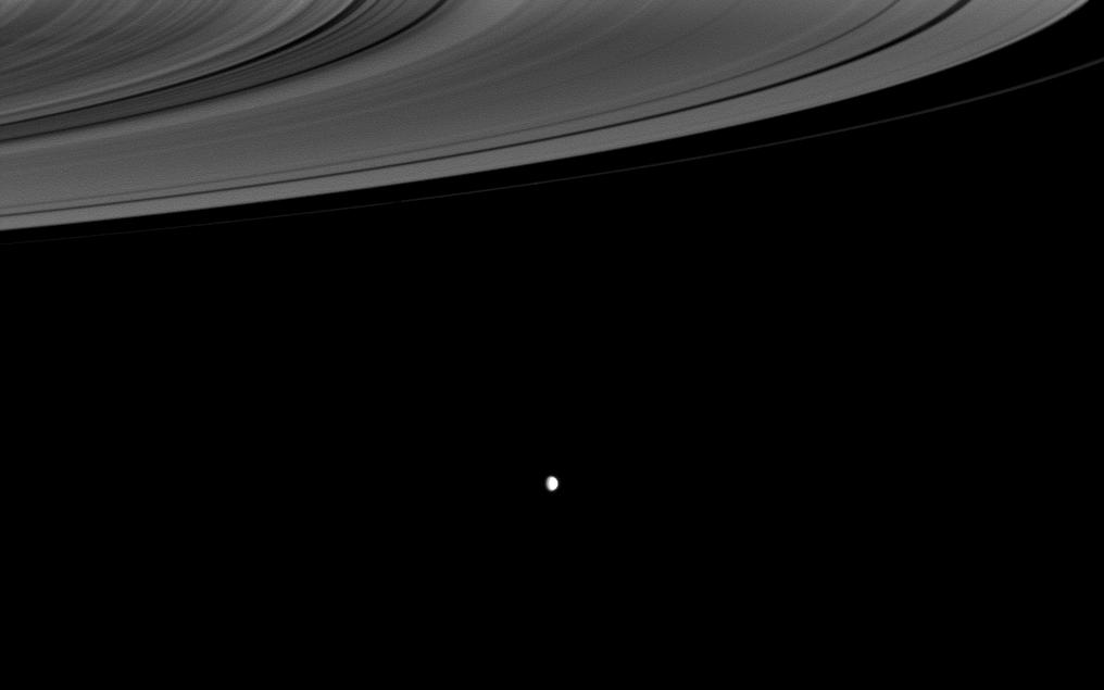 Saturn's rings and Enceladus