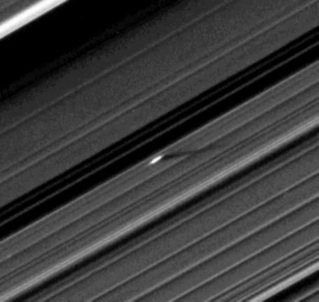 An unusually large propeller just beyond the Encke Gap