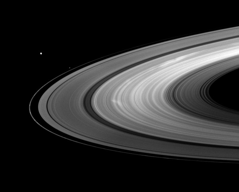 Mimas and Pandora join bright B ring spokes