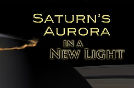 Artist's rendition of Saturn's aurora