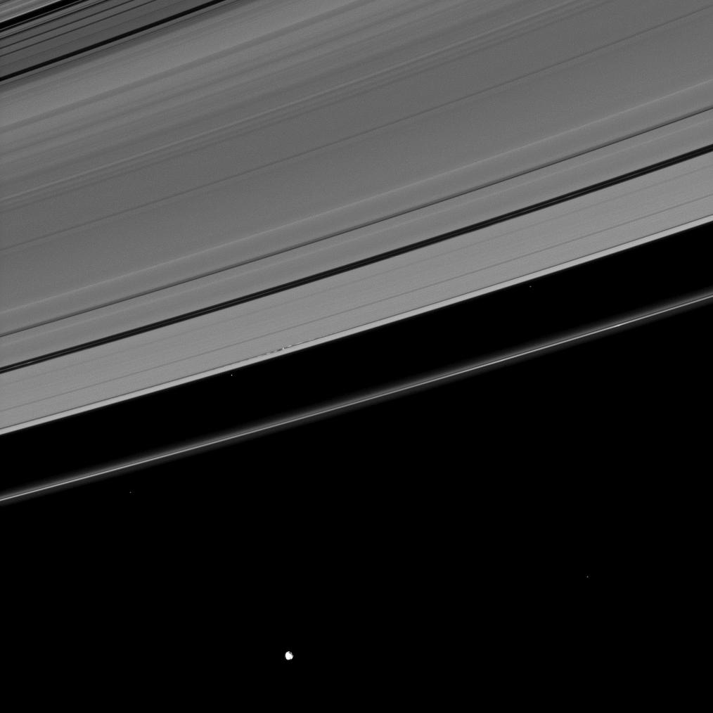 Disturbances created in Saturn's A ring by its moon Daphnis