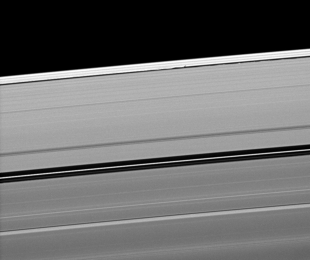 Daphnis casts a short shadow on the A ring