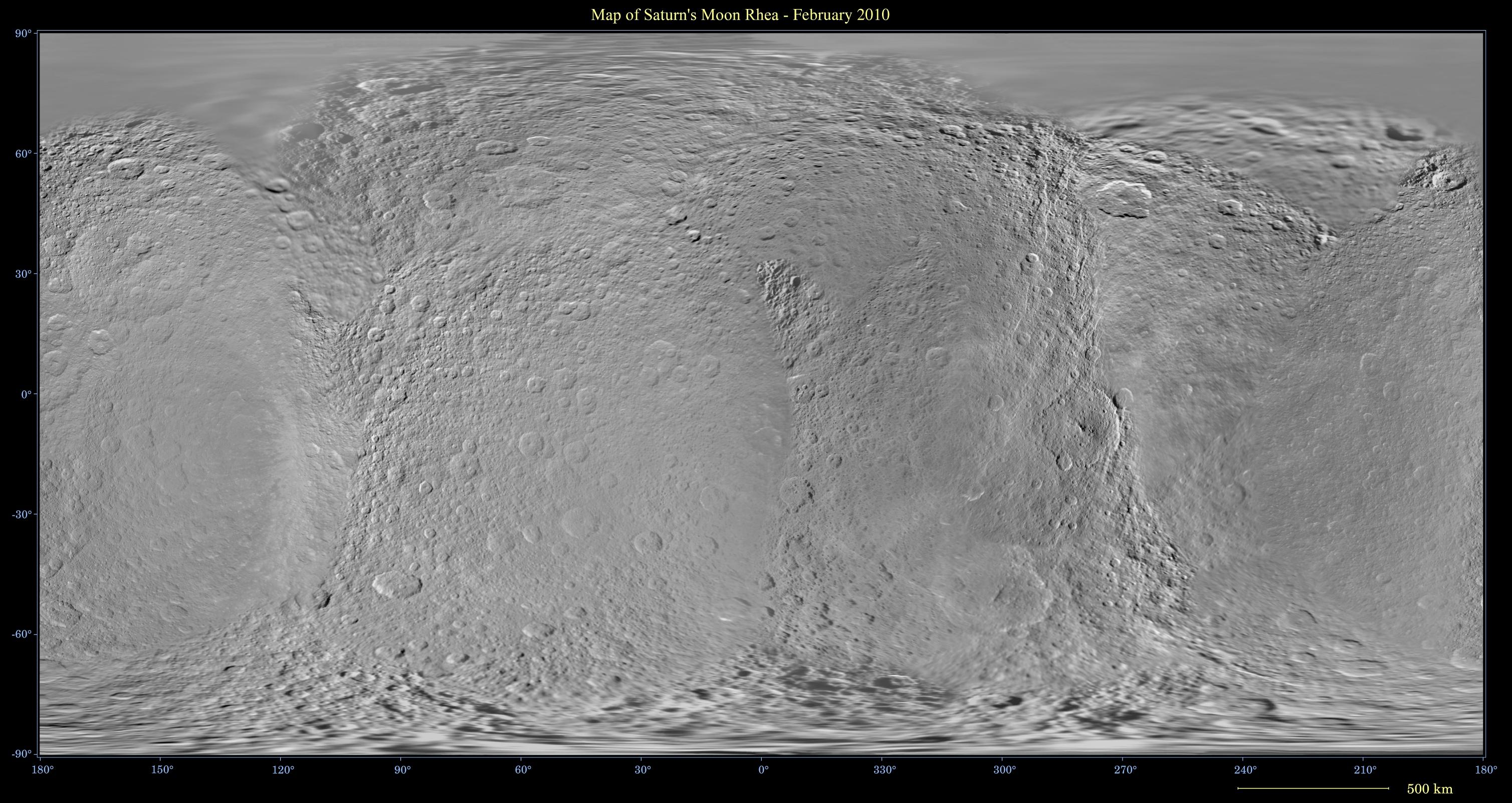 Global digital map of Rhea
