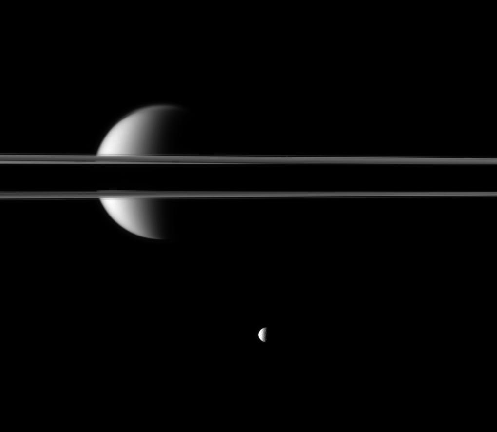 Saturn's rings and Titan