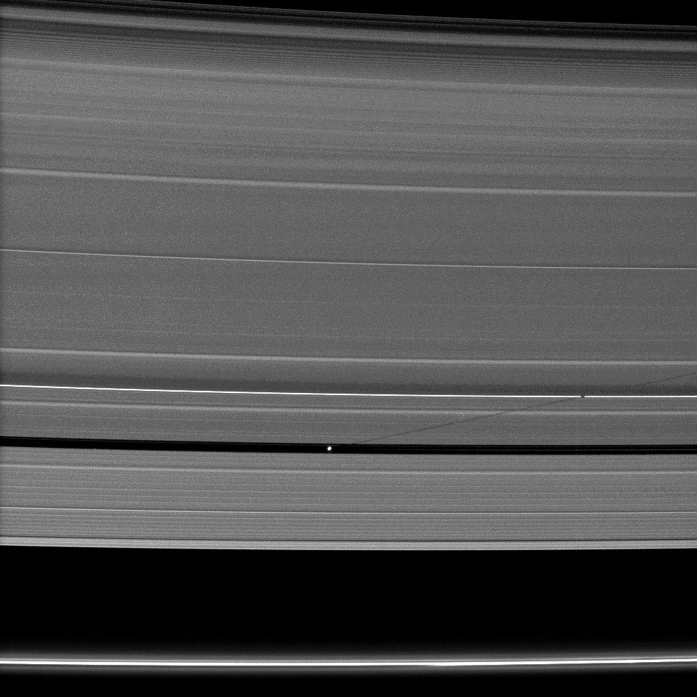 Pan casts a long shadow across the A ring