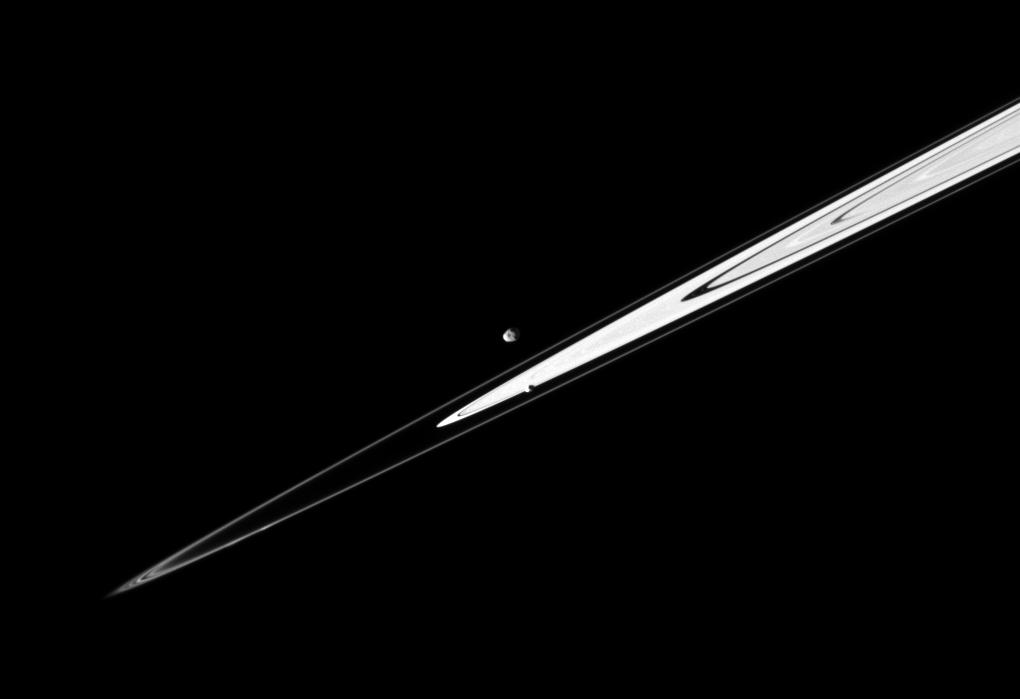 Janus, Pandora and Saturn's rings
