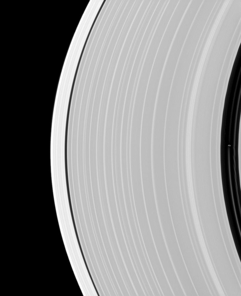 Pan and Saturn's rings