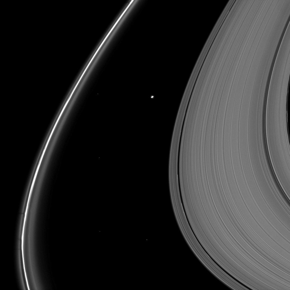 Atlas and Saturn's rings
