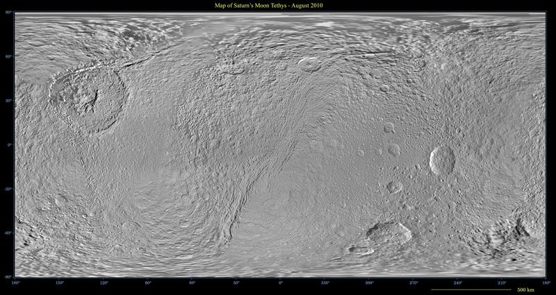 A global map of Saturn's moon Tethys