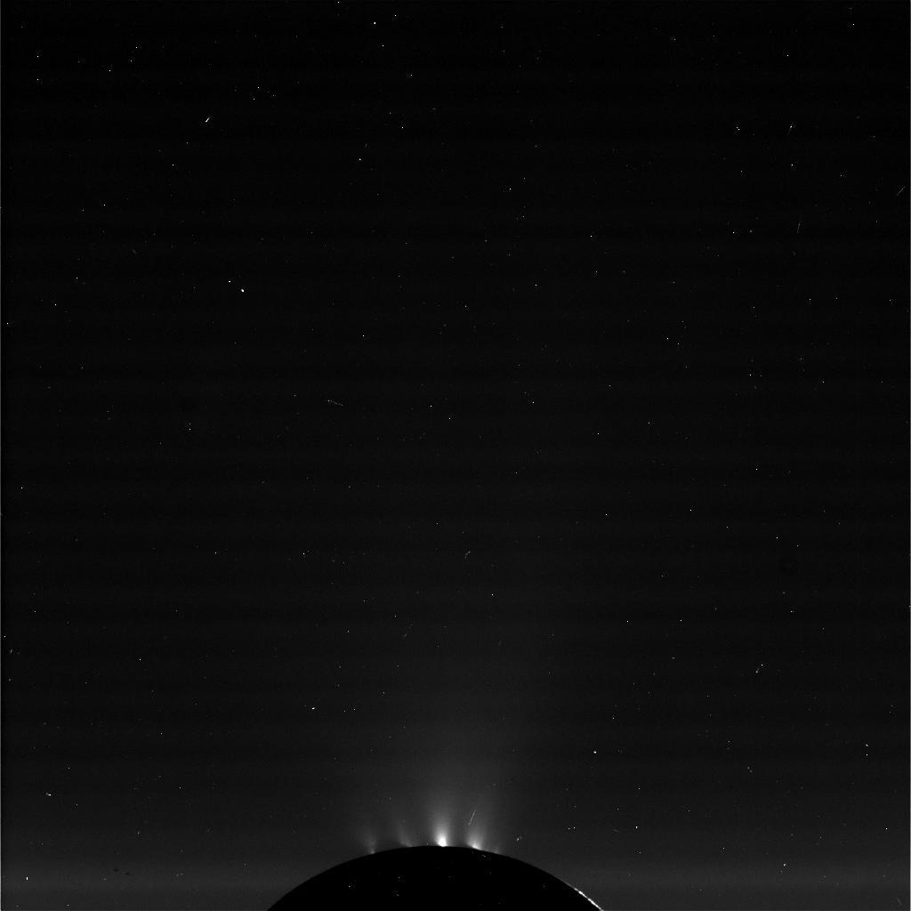 Raw image of Enceladus