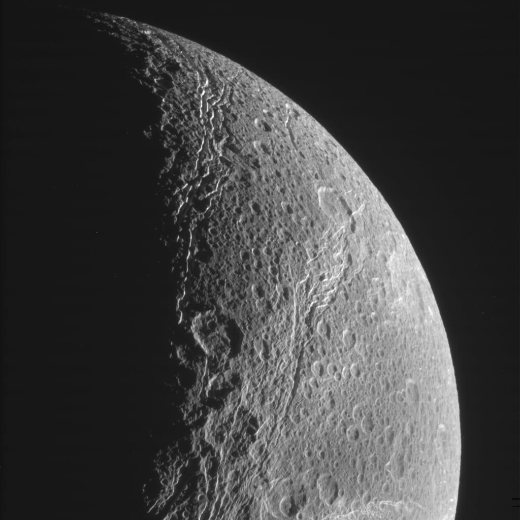 Raw image of Dione