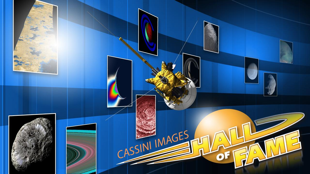Artist's rendition of a 'Cassini Images Hall of Fame'