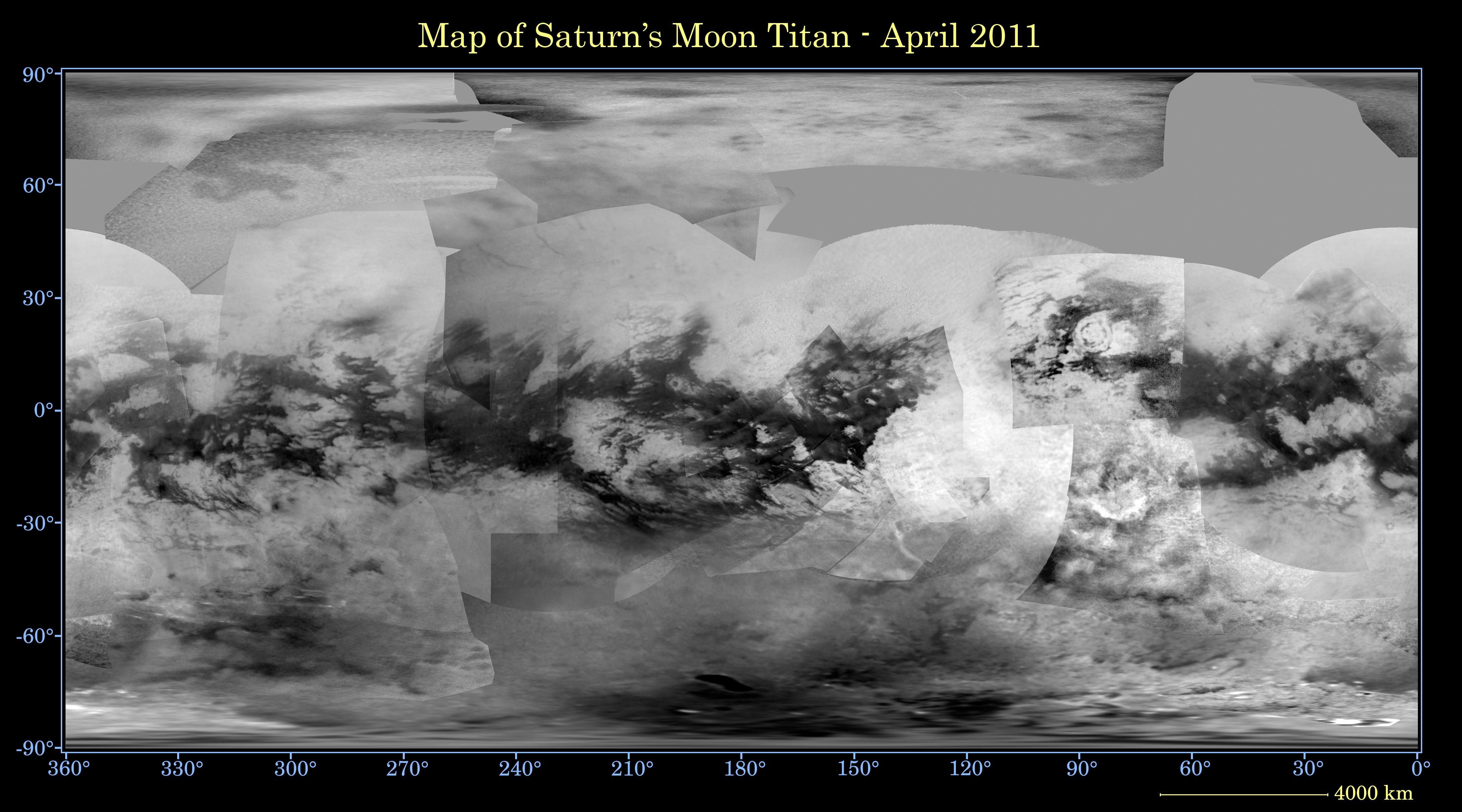 Global digital map of Titan
