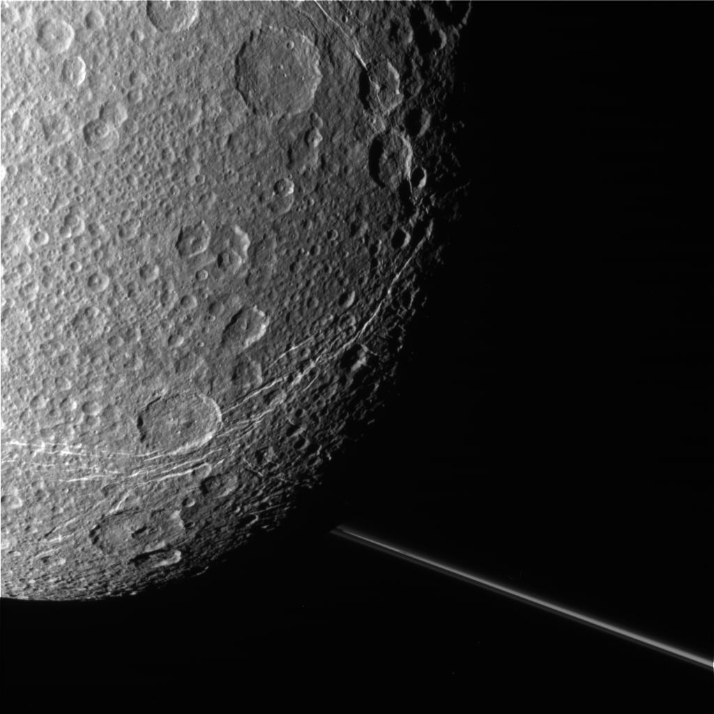 These raw, unprocessed images of Saturn's moon Dione were taken on Dec. 12, 2011, by NASA's Cassini spacecraft.