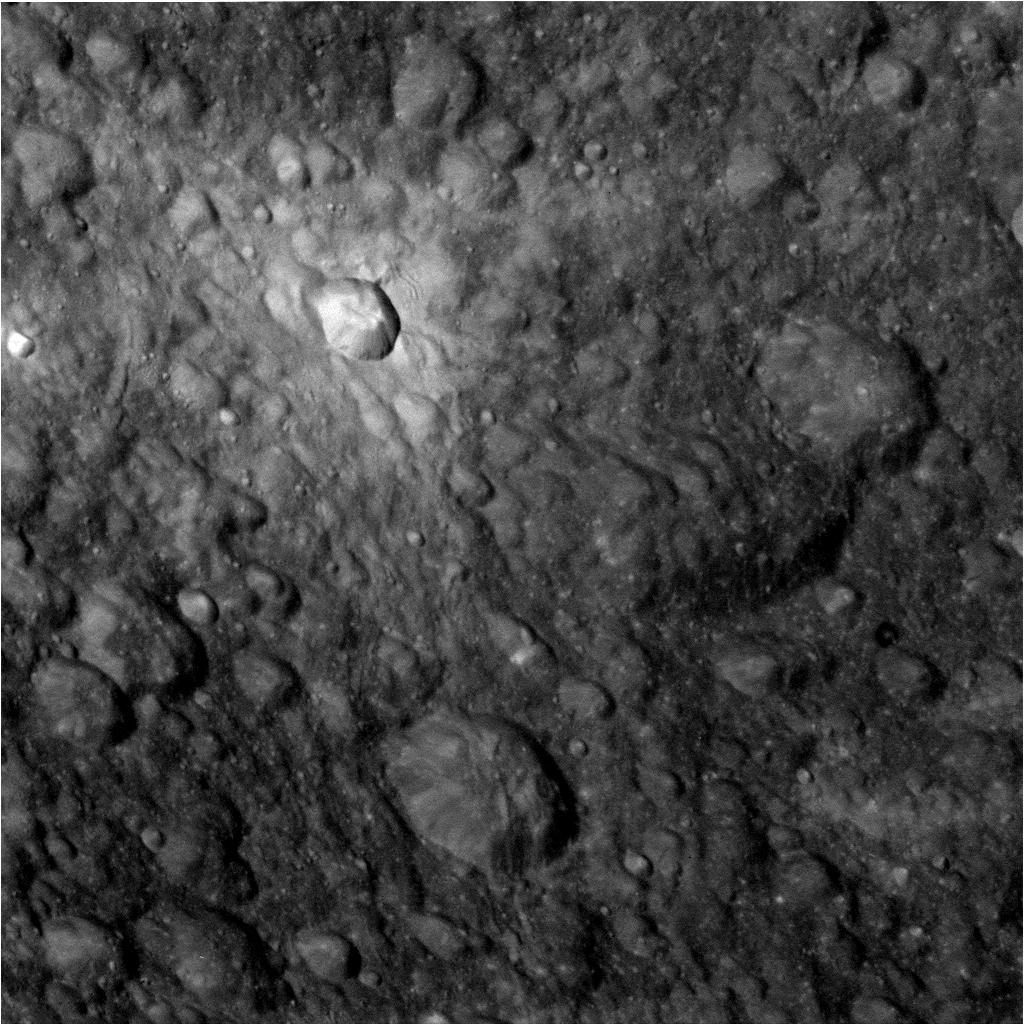 This raw, unprocessed image was taken by NASA's Cassini spacecraft on May 2, 2012. The camera was pointing toward Dione at approximately 9,434 miles (15,183 kilometers) away.