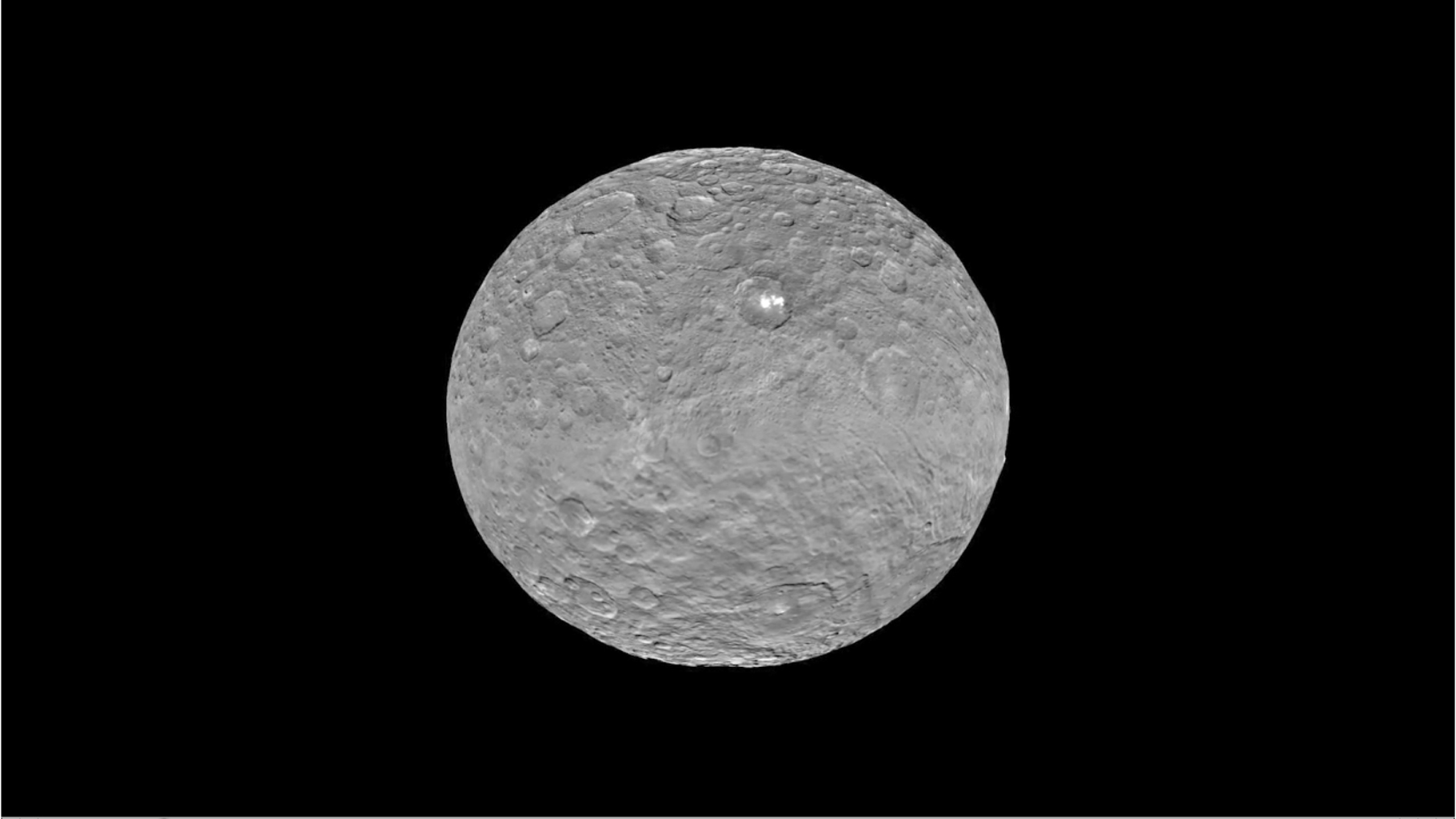 Ceres Animations: Global View, Occator, Mountain, 3-D View