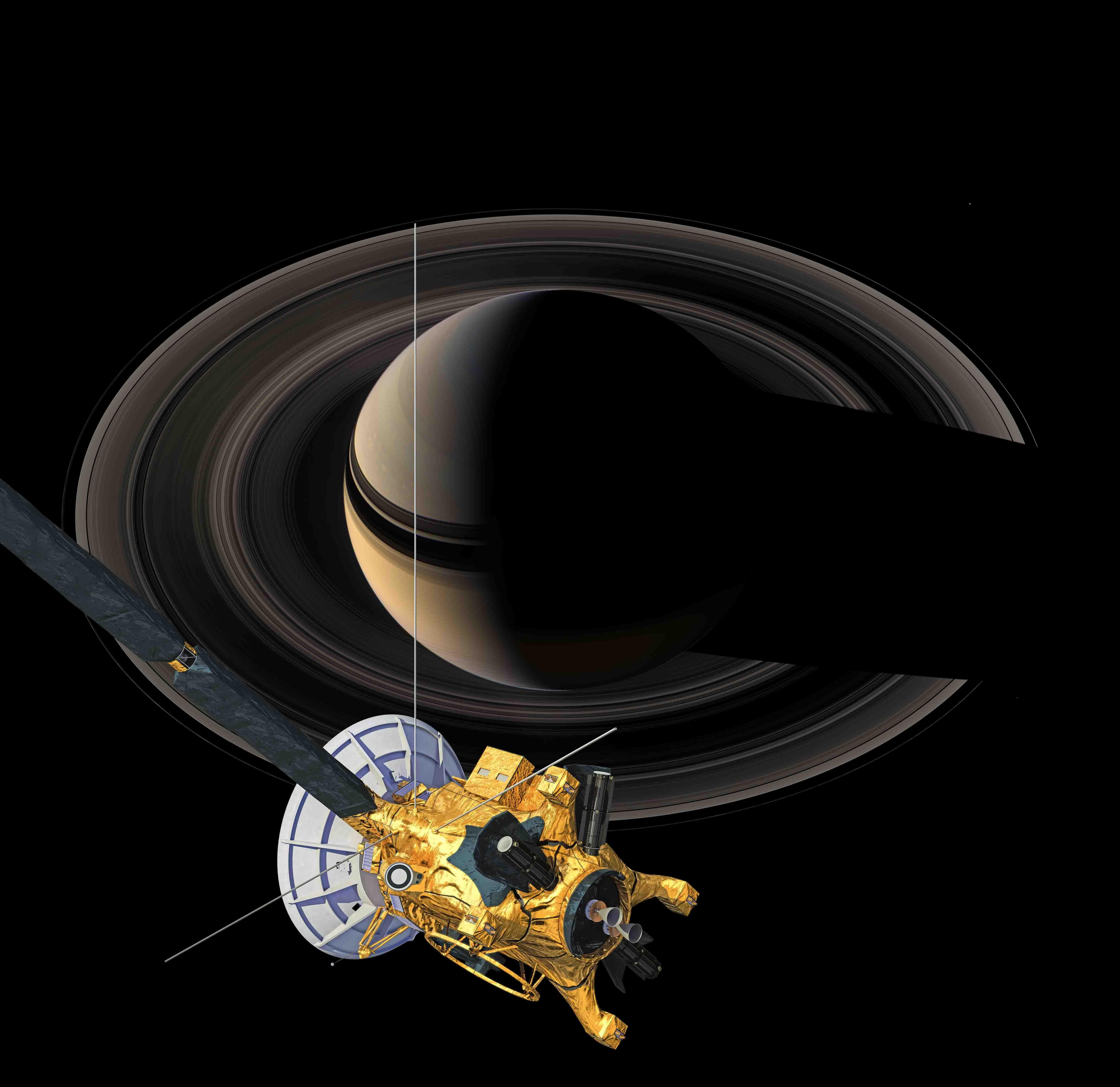 cassini spacecraft pictures of saturn - HD 4824×4680