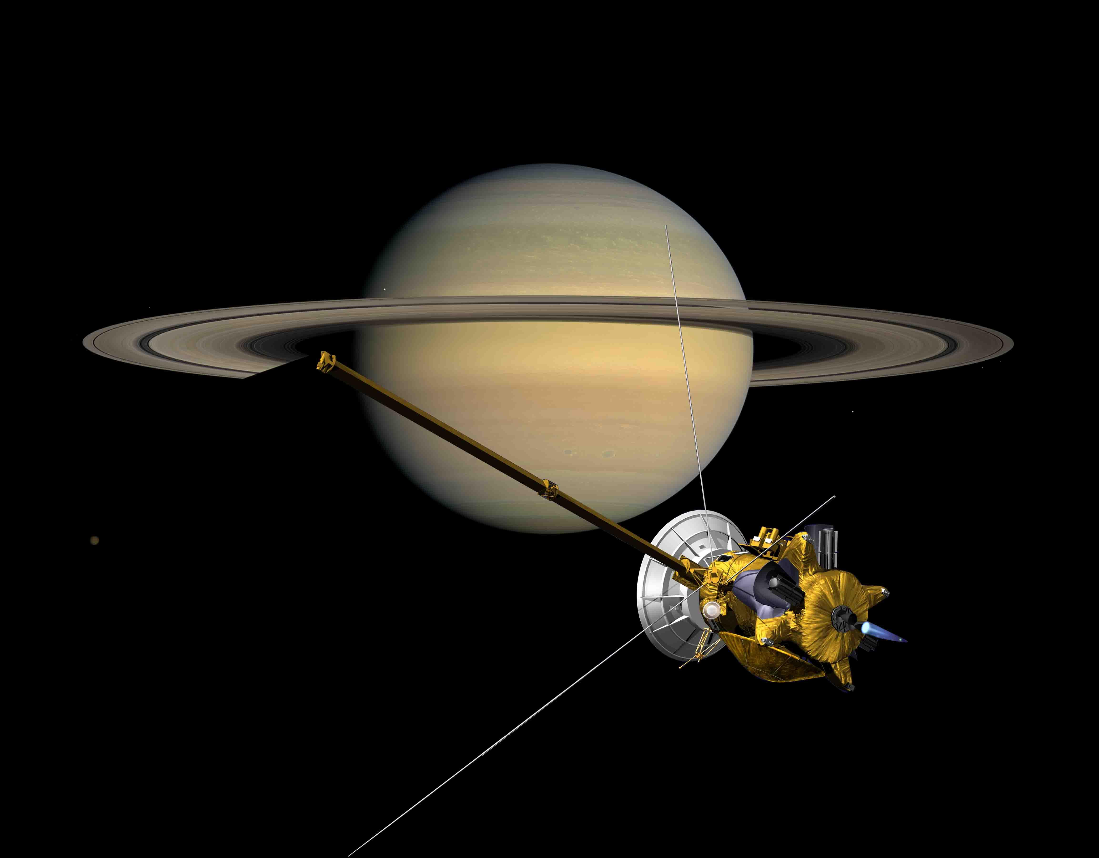 cassini spacecraft pictures of saturn - HD 4613×3600