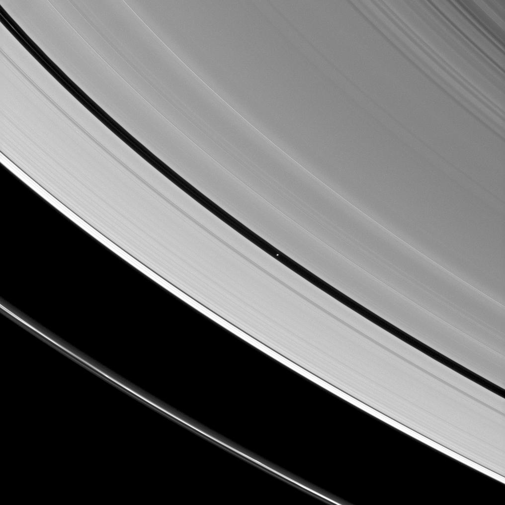Saturn's A ring and Pan