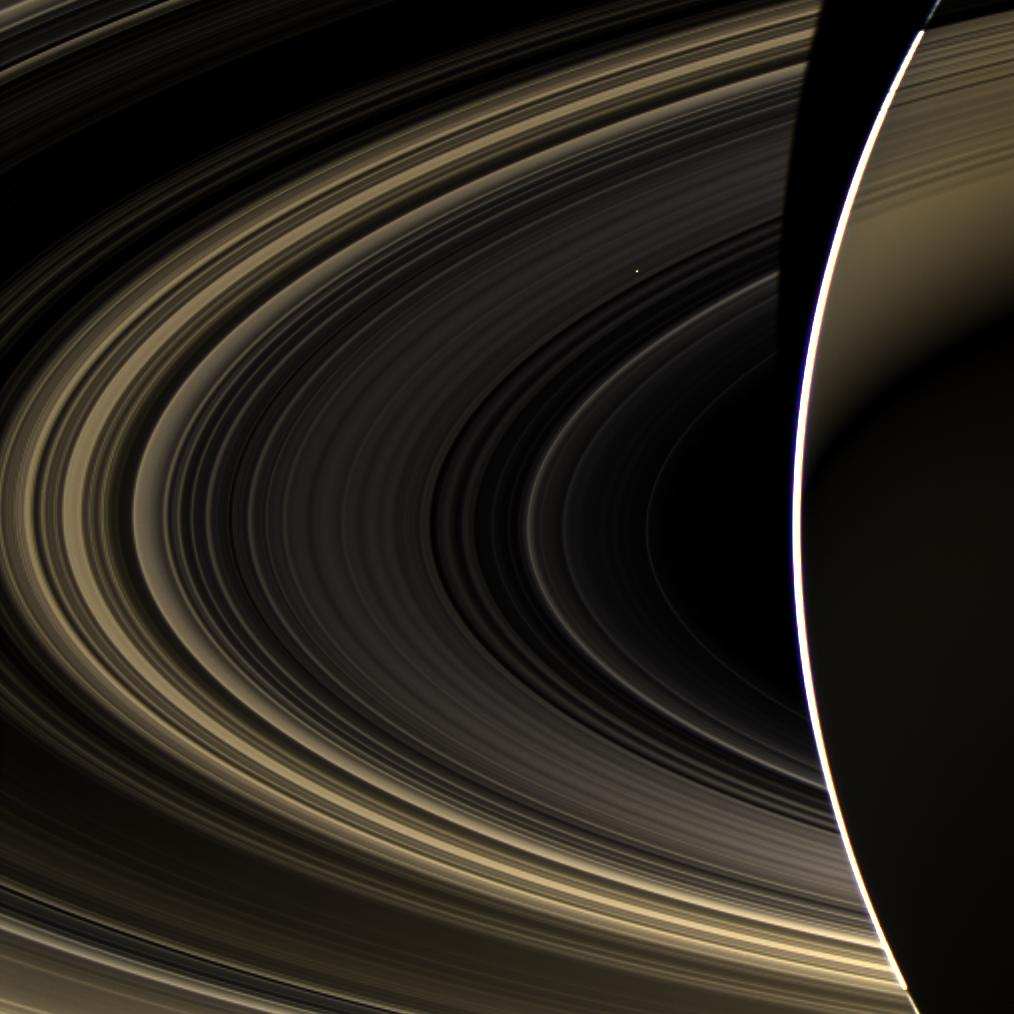 Saturn's rings and Venus