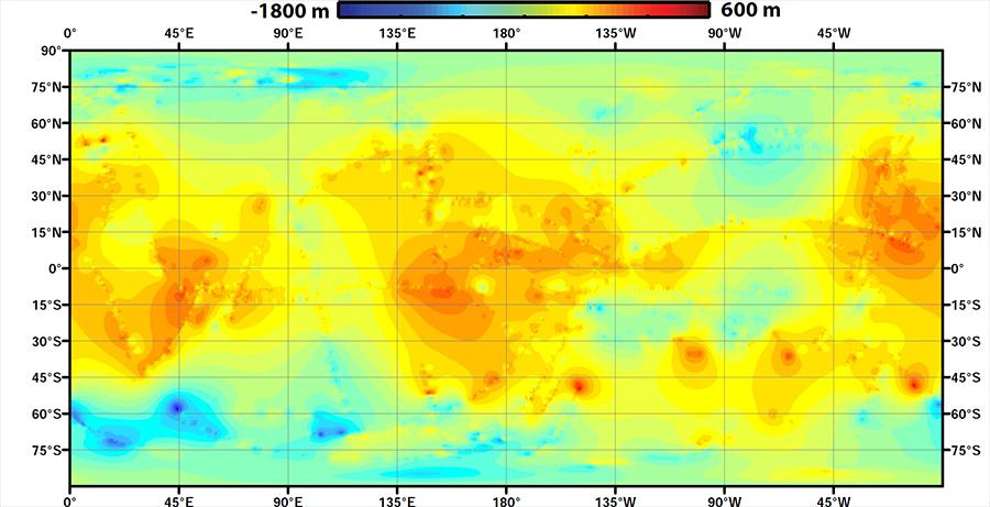 A global topographic map of Saturn's moon Titan