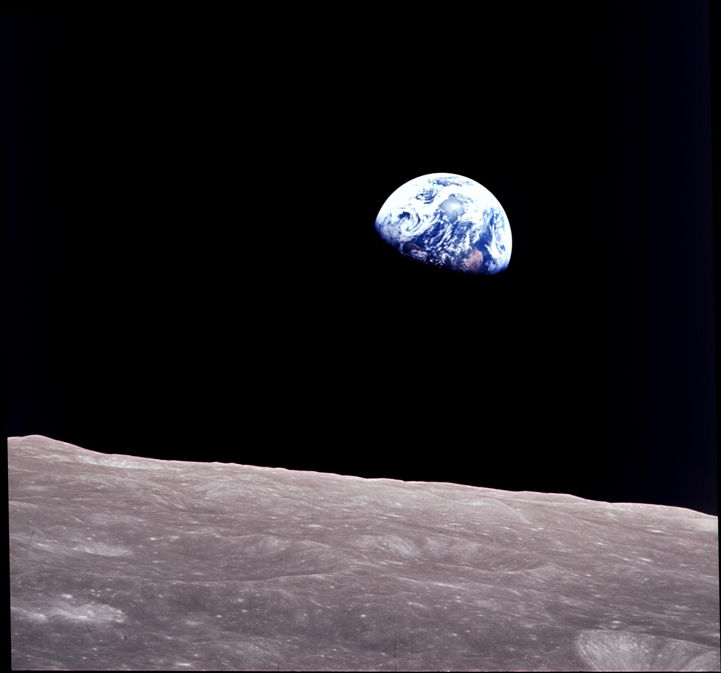 Earth of view from moon