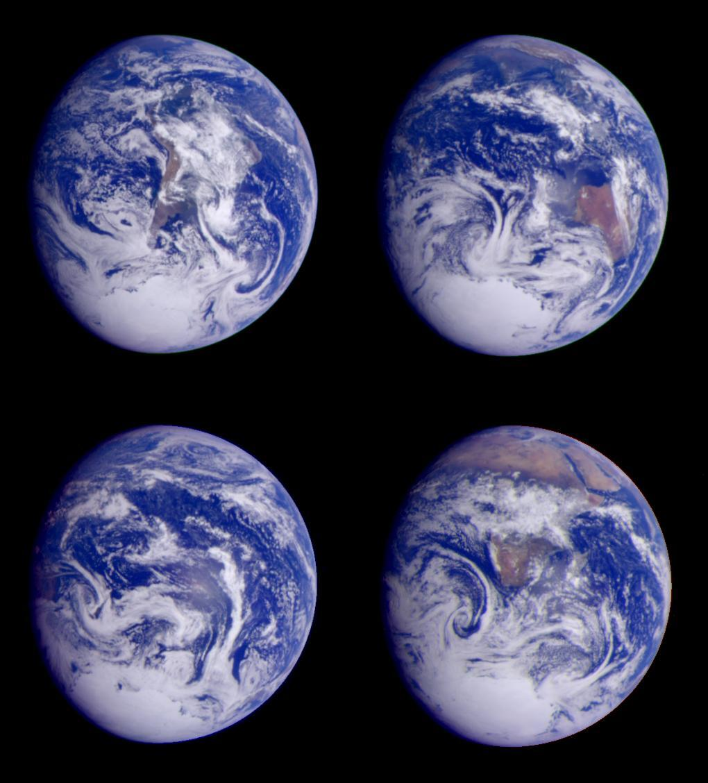 Global images of Earth from Galileo.