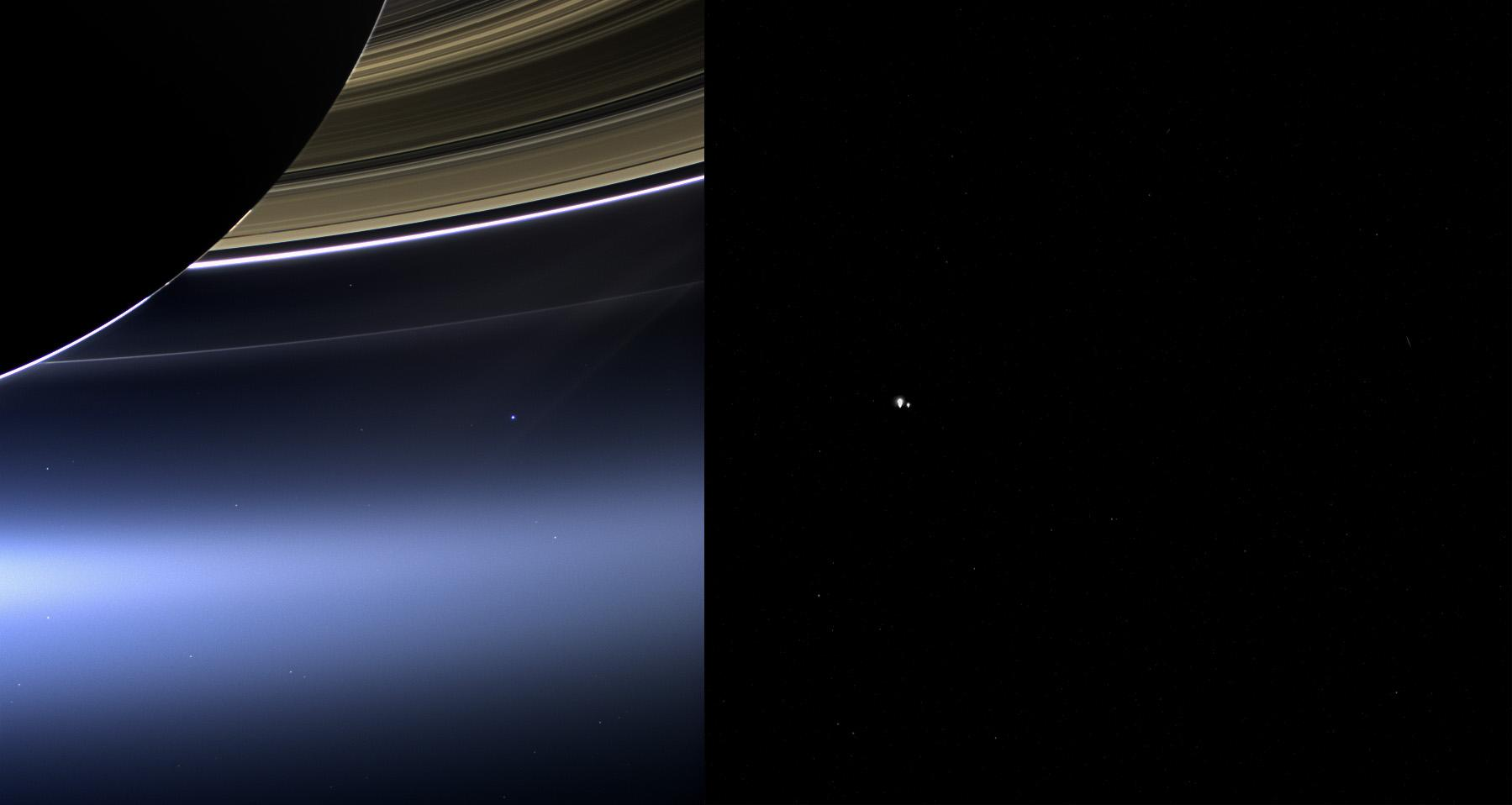 Earth from Cassini and MESSENGER