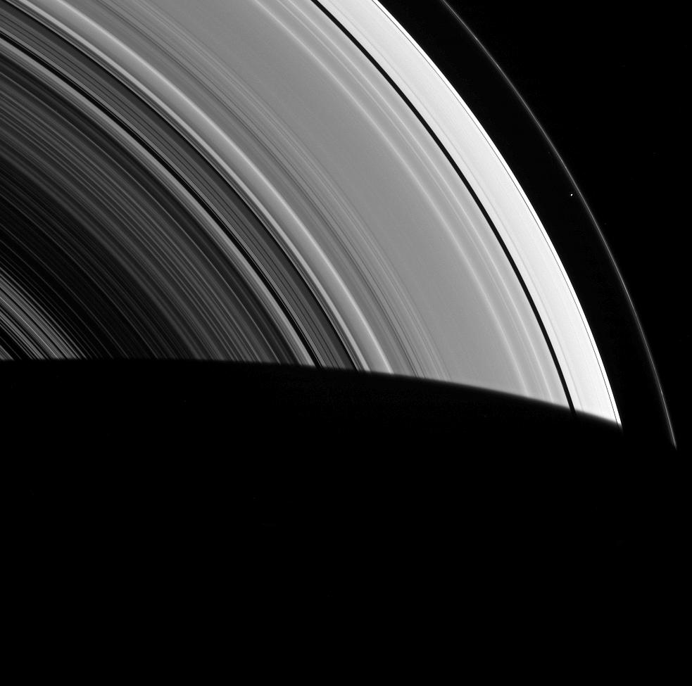 Prometheus and Saturn's rings