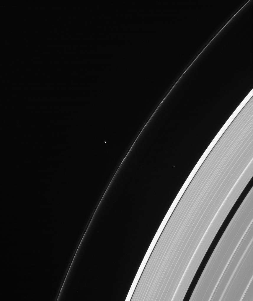 Atlas, Pandora, Saturn's rings