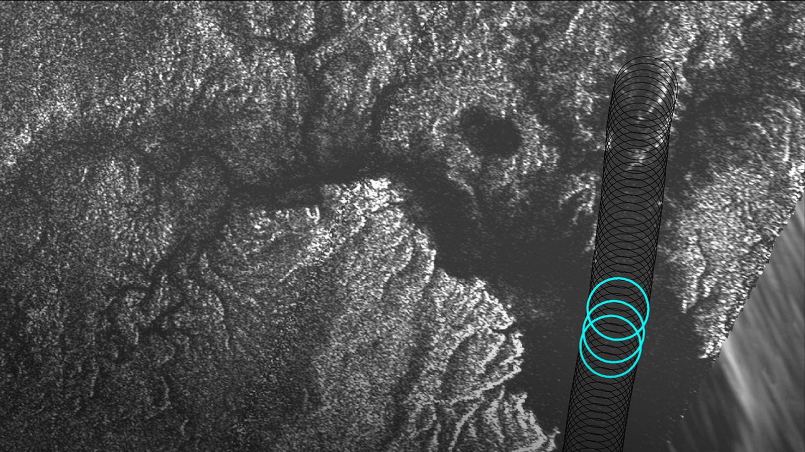 Radar image of Titan