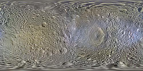 Map of Mimas