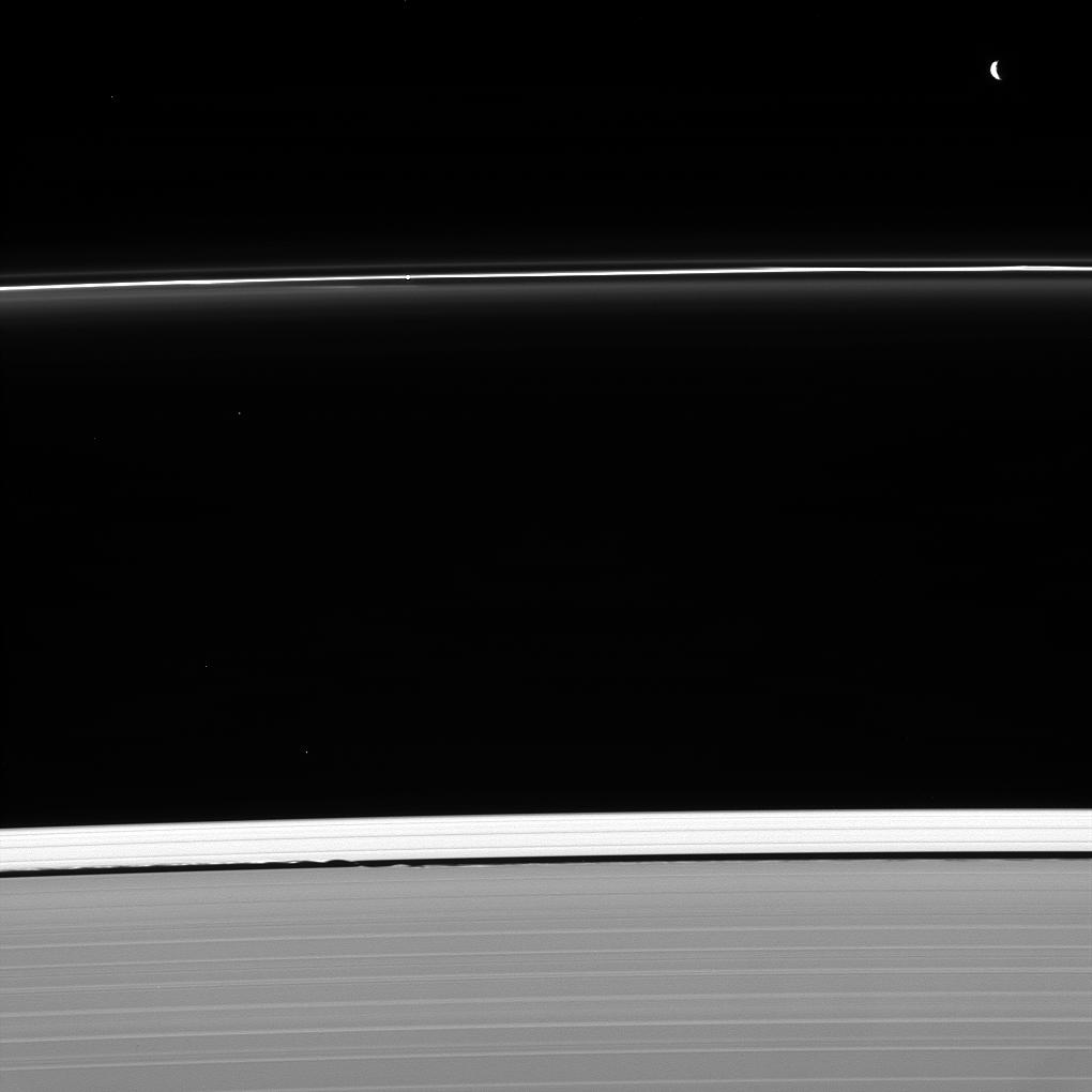 Saturn's rings, Pandora and Daphnis