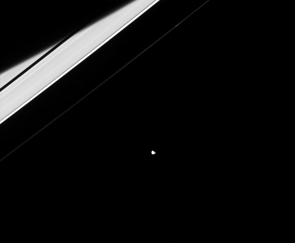 Janus and Saturn's rings