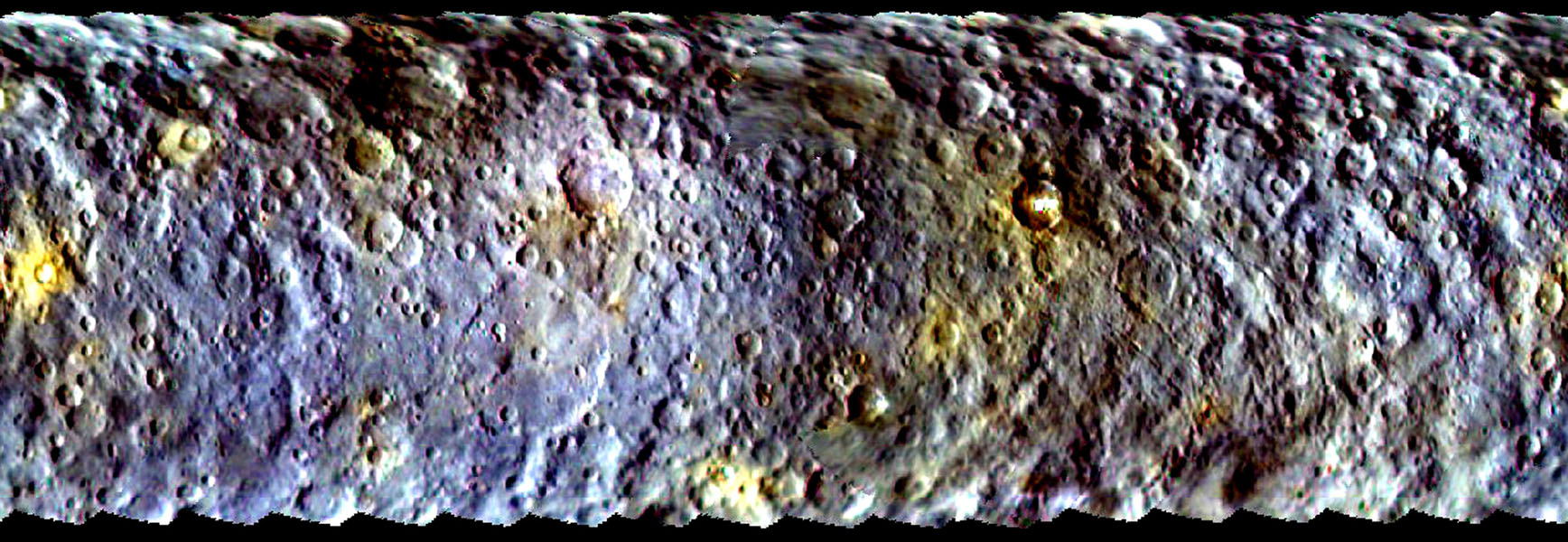 Dawn's First Color Map of Ceres